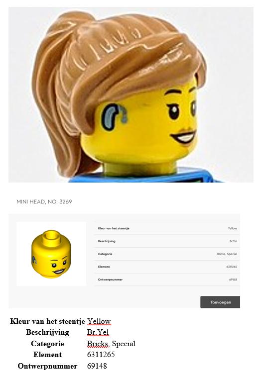 Legoblokje met hoorapparaat